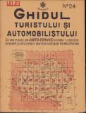Ghidul turistului si automobilistului harta nr 24 Lugoj 1936