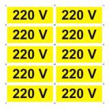 Indicator 220 V (10 etichete pe coala) - Semn Protectia Muncii, 4World