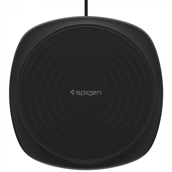 Incarcator Universal Inductie Waterproof Spigen F305W Wireless Fast Charger 9W QC 3.0 Negru