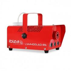 Ibiza LSM400LED-RE, aparat de fum mic, 410W, LED, roșu