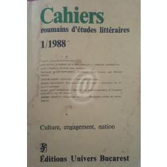 Cahiers roumains d'etudes litteraires 1/1988