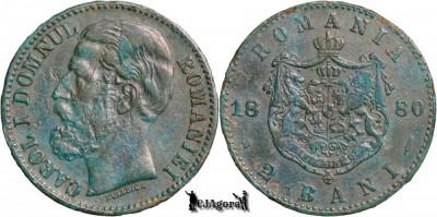 1880 B, 2 Bani - Carol I - Romania foto