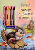 Disney. Iepurasi. Coloram cu Bocanila si prietenii lui. Carte de colorat cu 4 creioane cerate/Disney