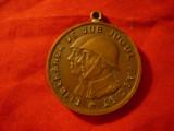 Medalie Eliberarea de sub jugul fascist , bronz , fara panglica