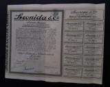 Actiune 1943 Leonida - Soc. romana de automobile , actiuni , titlu , Auto