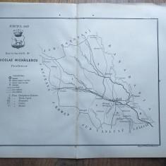JUDETUL IASI // HARTA CROMOLITOGRAFIATA, 1904