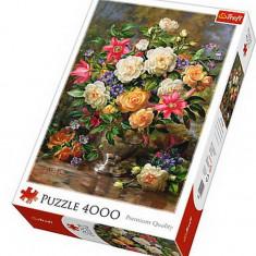 Puzzle Trefl 4000 piese - Flori pentru Regina Elisabeta