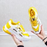 Pantofi sport dama albi cu galben Ezary-rl