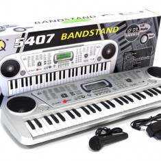 Orga electronica cu 54 clape, afisaj LCD + microfon