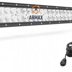 Set proiector auto led bar drept 86cm 180w + kit instalaltie cu releu