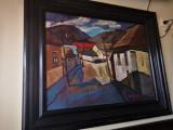 Tablou scoala de la Baia Mare, Peisaje, Ulei, Impresionism