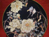 FARFURIE DECORATIVA PORTELAN CU COBALT WEDGWOOD FINE BONE CHINA - DECOR BUJORI