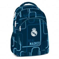 Ghiozdan Ergonomic Scoala FC Real Madrid Future cu 3 compartimente 47 cm