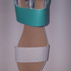 Sandale Dama din Piele,Cadenzza,Swbsa-Lea, Turcuaz Argintiu