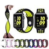 Curea sport de silicon perforata ceas Apple Watch 5 4 3 2 1 42/44 mm - colorate