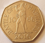 Monedă 50 pence 2016 Marea Britanie, Battle of Hastings, Europa