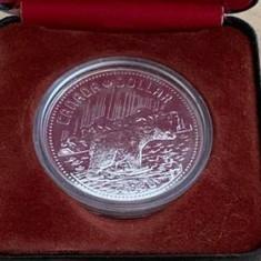CANADA 1 DOLLAR, DOLAR 1980, AG.500, KM#128, , ARCTIC TERITORIES,(IN CUTIE.)