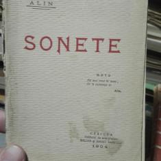 Sonete – Alin, princeps, 1904