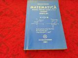 MIRCEA GANGA MATEMATICA MANUAL PENTRU CLASA A X A M1-- 2001 ALGEBRA  RF11/2