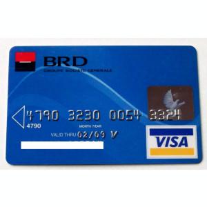 ROMANIA  CARD BANCAR BRD VISA PENTRU COLECTIONARI **