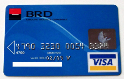 ROMANIA  CARD BANCAR BRD VISA PENTRU COLECTIONARI ** foto