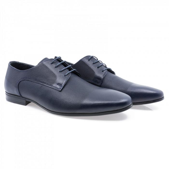 Pantofi barbati Goretti din piele naturala Gor-41209-Navy