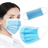 Cumpara ieftin Masti faciale de protectie din 3 straturi eficienta filtrare >90% - 50 buc/cutie