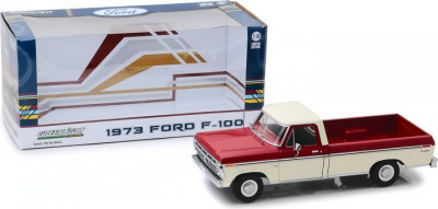 1973 Ford F-100 - Red and White Two-Tone 1:18 foto