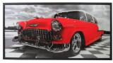 Tablou Cu Ceas Inramat 50X100 Cm Chevy