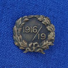 Insigna 1916 - 1919 - WW1 - Romania - Primul  razboi mondial