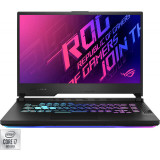 Laptop ASUS Gaming 15.6'' ROG Strix G15 G512LV, FHD 144Hz, Intel Core i7-10870H, 8GB DDR4, 512GB SSD, GeForce RTX 2060 6GB, No OS, Black