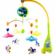 Carusel muzical cu zorzoane si beculet (baterii) - Cel mai frumos cadou pentru copii 011B
