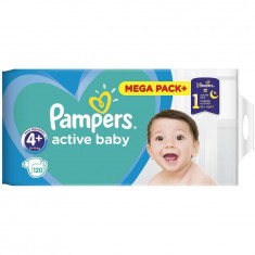 Scutece Pampers Active Baby 4+ Mega Box, 120 bucati