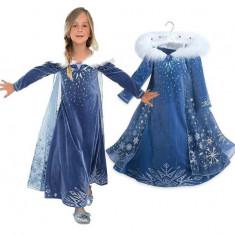Rochita Elsa, Rochie Frozen, petrecere 5-6 ani - model 2020