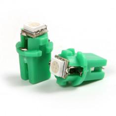 Led bec 1 smd 5050 soclu T5 B8.3D pentru bord de culoare verde