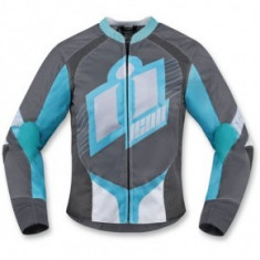 Geaca moto dame textil Icon Overlord 2 culoare gri/albastru deschis marime M Cod Produs: MX_NEW 28220718PE