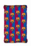 Cearceaf pentru pat FC Barcelona, 90x200cm+25cm, cu elastic