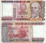 1990 ( 5 I ) , 5,000,000 intis ( P-149 ) - Peru
