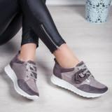 Pantofi Piele dama gri Rocama