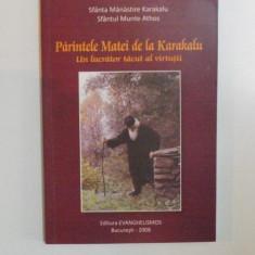PARINTELE MATEI DE LA KARAKALU , UN LUUCRATOR TACUT AL VIRTUTII , 2008