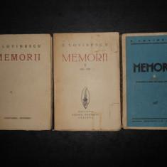 EUGEN LOVINESCU - MEMORII 3 volume  (1930, prima editie)
