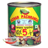 Pachranga Mixed Pickle - Tins (Muraturi Indiene Mixte Conserva) 800g