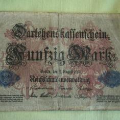 50 Mark / Marci 1914 GERMANIA - Lot de 2 Bucati / 2