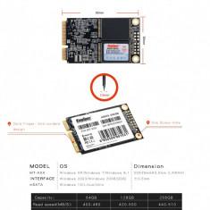 SSD kingspec 64GB 4-Channel Mini PCIE MSATA SSD Hard Drive 64GB 3cmX5cm