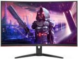 Monitor Gaming VA LED AOC 31.5inch C32G2AE/BK, Full HD (1920 x 1080), VGA, HDMI, DisplayPort, Boxe, Ecran curbat, 165 Hz, 1 ms (Negru/Rosu)