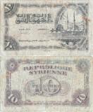 1944 (15 II), 10 piastres (P-56) - Siria!