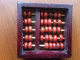 Abac numaratoare mica din lemn de colectie decor hobby