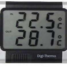 Termometru auto Carpoint interior - exterior cu alerta inghet 7.5 x 6 cm