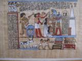 TABLOU PAPIRUS IN RAMA LEMN 27 / 40 CM