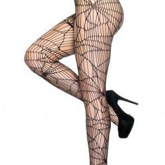 STK282-1 Ciorapi sexy cu model panza de paianjen